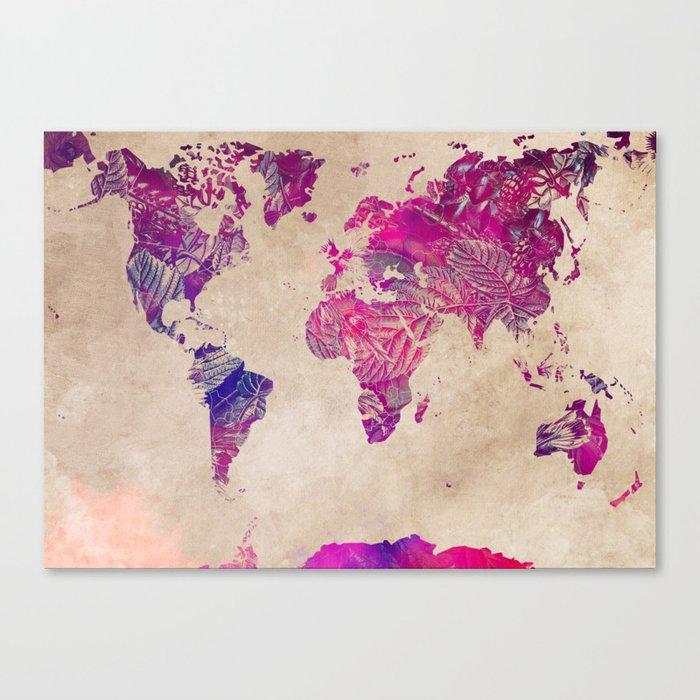 world map 22 #worldmap #map Canvas Print