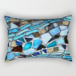 Blue Glass Pattern Rectangular Pillow