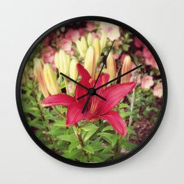 Asiatic Lilly Wall Clock