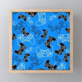 Video Games Blue Framed Mini Art Print