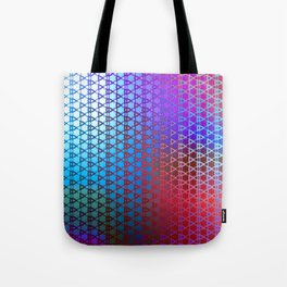 Groovy Retro Pattern (purple-red-turquoise) Tote Bag