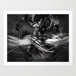 xsupermodels - Black Flag Skytop II - Midnight Stars And Stripes Art Print