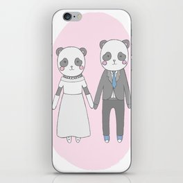 Wedding pandas, iPhone Skin