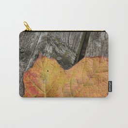 Rustic Leaf Carry-All Pouch