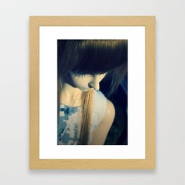 Thinking of a wish Framed Art Print