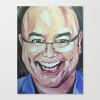 greg guillemin Canvas Prints featuring Greg Wallace by Mia Silverwoman