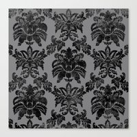 damask Canvas Prints featuring DAMASK by pike design