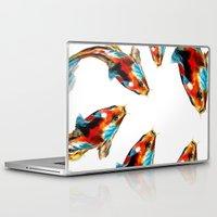 koi Laptop & iPad Skins featuring Koi by James Peart