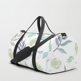 Simple and stylized flowers 2 Duffle Bag