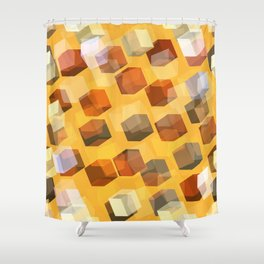 transparent cubes Shower Curtain
