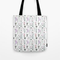 makeup Tote Bags featuring MAKEUP by Catalina Montaña