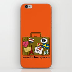 Wanderlust Queen iPhone & iPod Skin