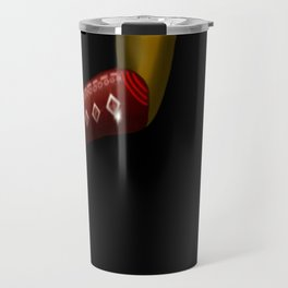 Red Boots, Black Legs Running by Mgyver 2 Travel Mug