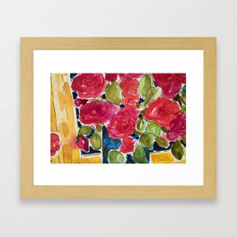 For the roses - que pour les roses Framed Art Print