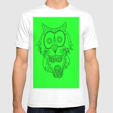 Owl of the Day Mens Fitted Tee White MEDIUM