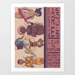 Live at the Manticore Art Print