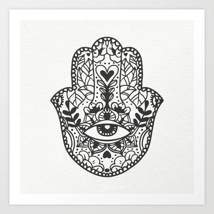 boho hand Art Print
