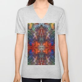 Abstract Meditating Time Unisex V-Neck