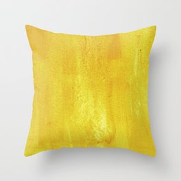 Brushed Yellow Throw Pillow