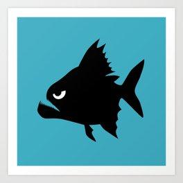 Angry Animals - Piranha Art Print