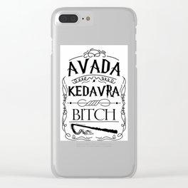 Avada Kedavra Bi*ch Clear iPhone Case