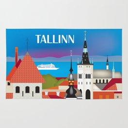 Tallinn, Estonia - Skyline Illustration by Loose Petals Rug