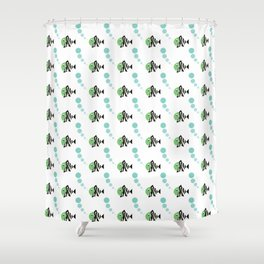 Zebra fish cute summer pattern Shower Curtain