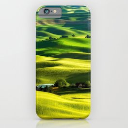 Rolling Hills & Fields of Wheat in Palouse ,Washington by Malcolm Carlaw iPhone Case