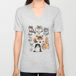 Disappointed Cats Unisex V-Neck