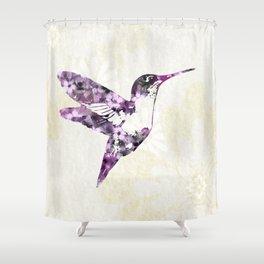Purple Hummingbird Art Shower Curtain