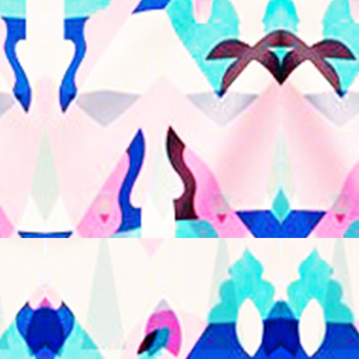 Mountain Ikat in Pink and Blue Leggings