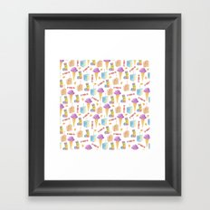 Birthday Girl Pattern Framed Art Print