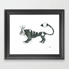 Tigre Cornu Framed Art Print