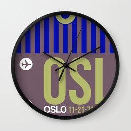OSL Oslo Luggage Tag 2 Wall Clock