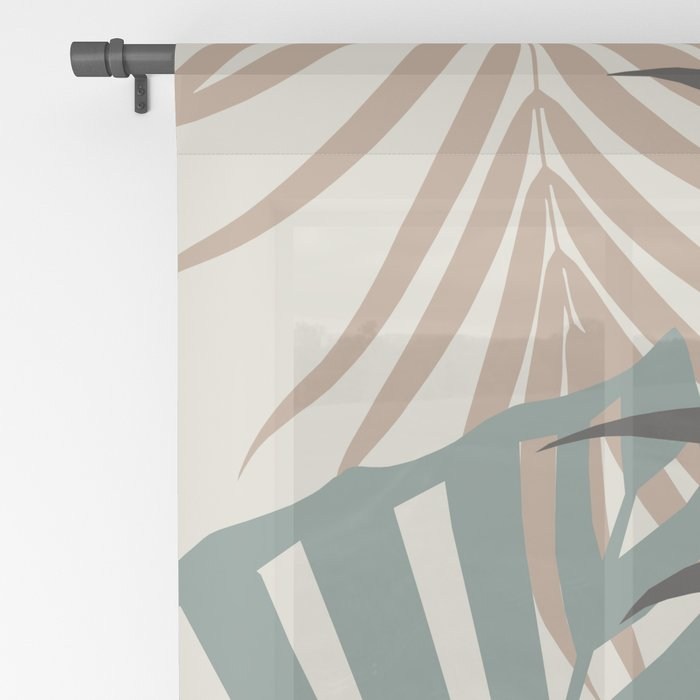 Minimal Jungle Leaves Finesse #1 #tropical #decor #art #society6 Sheer Curtain