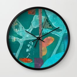 Turquoise Repeat Wall Clock