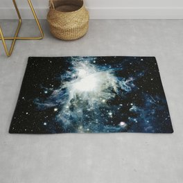 Steely Blue Orion Nebula Rug