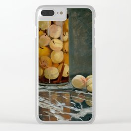 Claude Monet - Jar Of Peaches Clear iPhone Case