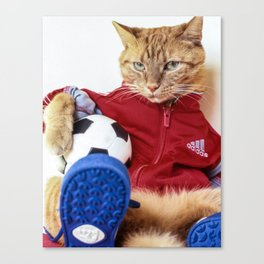 The Cat is #Adidas Canvas Print
