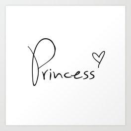 Princess Heart Art Print