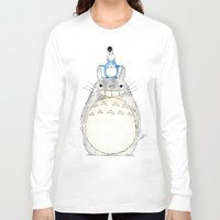 ghibli Long Sleeve T-shirts featuring Ghibli  by Joan Pons