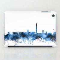 washington dc iPad Cases featuring Washington DC Skyline by artPause