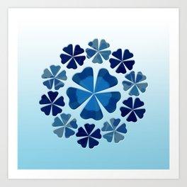 Winter Flower Snowflake Art Print