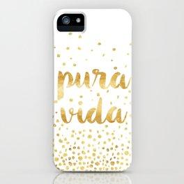 Pura Vida Gold Champagne Bubble Design iPhone Case