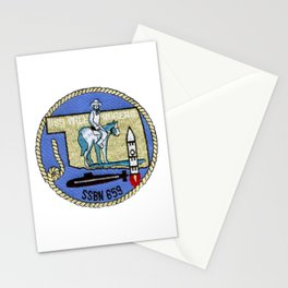 USS WILL ROGERS (SSBN-659) PATCH Stationery Cards