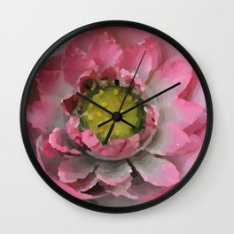 Lotos - Lotus Flower big close up Illustration Wall Clock
