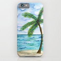 watercolor palm iPhone 6s Slim Case