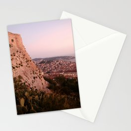 Slit with a golden kiss Stationery Cards