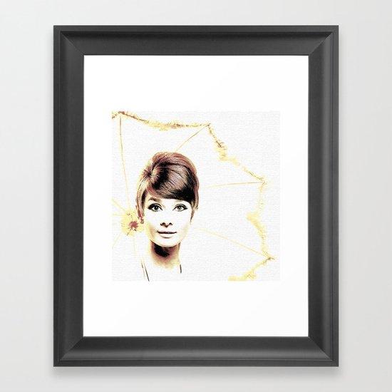 LOVELY AUDREY Framed Art Print