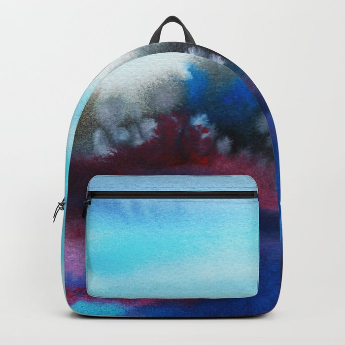 Watercolor abstract landscape 25 Backpack